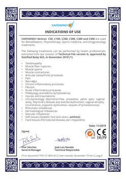 Capenergy Clinical Indications CE1639
